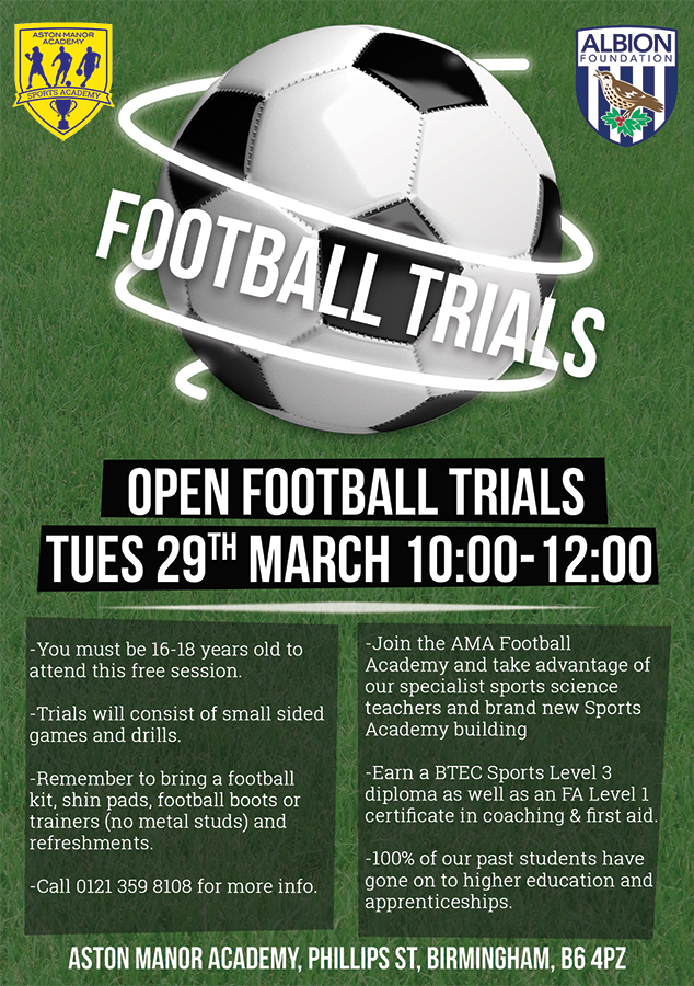 how to get football academy trials